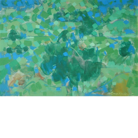 blue and green landscape by carl robert holty
