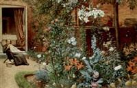 a garden border by frederick hamilton jackson