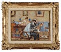 un peintre et sa femme écrivant by marie louis sue