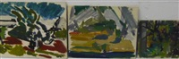 paysages (various sizes; 3 works) by bernard dufour