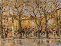 piazza napoleone a lucca by giovanni campriani