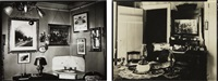 selected images of interiors (2 works) by walker evans