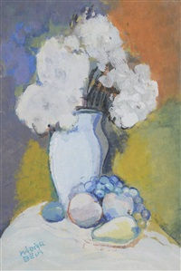 nature morte au bouquet de fleurs by béla kádár