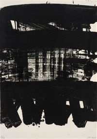 lithographie 21 by pierre soulages