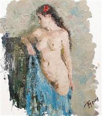 standing nude by vasili i. gurin