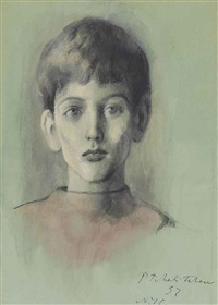 portrait of the young obolensky by pavel tchelitchew