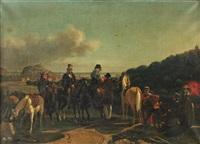 la famille du comte de la ferronnays aux environs de nice by fournier de bellevue