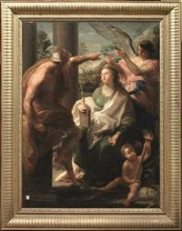 mercurio incorona la filosofia madre delle arti by pompeo girolamo batoni