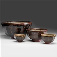 four faceted bowls (set of 4) by richard batterham