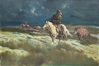 frontiersman on horseback by gerald mccann