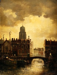 european city by bartol wilhelm van laar