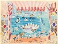 rideau de theatre pour le ballet palm beach by raoul dufy