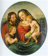 the holy family with the infant saint john the baptist by joan de joanes