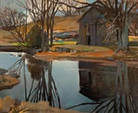 morning on the fall river by frank charles hennessey