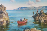 fishing - cushendall by donal mcnaughton
