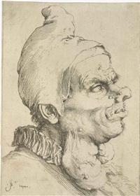 head of man in a pointed cap by jusepe de ribera