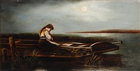 girl in a barge by philippe smit