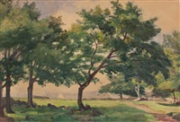 treed pasture by william brymner