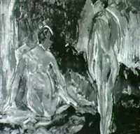 two figures by dorothy loeb