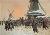 le général pichegru durant la campagne de hollande by george bertin scott