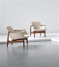 pair of armchairs, model no. nv53 by finn juhl