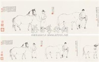 五马图 (five horses after li gonglin) by xu zhao