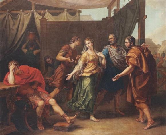 laffliction dachille devant le départ de briséis by laurent pécheux
