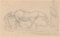 das müde pferd, trocken by alfred kubin