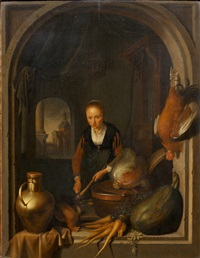 the cook and yours by gerrit dou