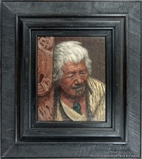 the weariness of the aged - kapi kapi an arawa chieftainess aged 102 years by charles frederick goldie