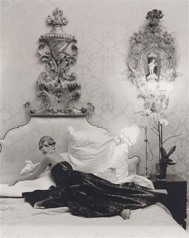 Kate Moss reclining in the Coco Chanel suite The Ritz Paris January for American Vogue April by TimWalker