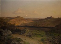 abendsonne in süditalien by georg eduard otto saal