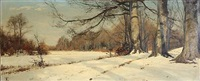 winter day in a forest by thorvald simeon niss