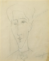 portrait de jean cocteau by amedeo modigliani
