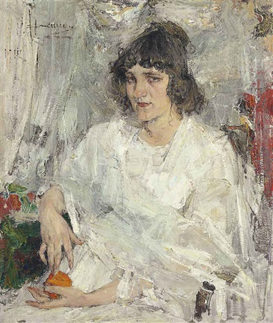 Portrait of mademoiselle kitaeva by nicolai fechin on artnet for Nicolai fechin paintings for sale