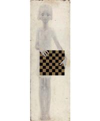 девочка с шахматной доской by vitaly komar