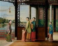 scène chinoise by chinese school-canton (19)