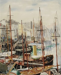 le port de marseille by moïse kisling