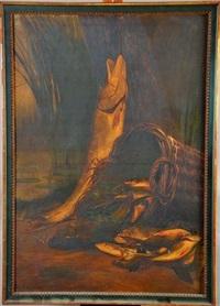 nature morte aux poissons de rivière by jean roch isnard