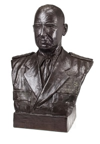 a bust of admiral j.j.(jocko) clark, u.s.n. by s. kawamura