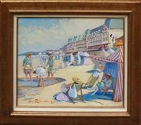 les baigneuses sur la plage de cabourg by martin lindenau