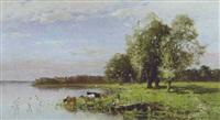 kühe am chiemseeufer by eugen reichenbach