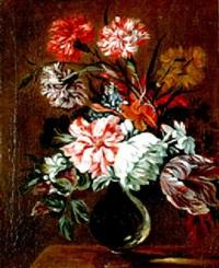 fleurs dans un vase en verre by léon jean baptiste buisson