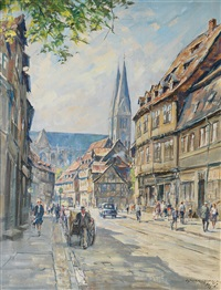 historic district of halberstadt by walter gemm