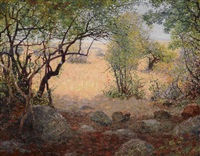 view from the rock camp in tanganyika by william robinson leigh