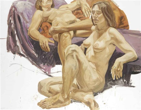 two nudes by philip pearlstein