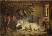 feeding the horses by willem jacobus boogaard