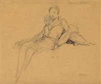 portrait of dorothy shoulin by everett shinn