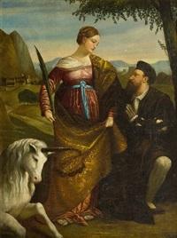 św. justyna padewska z pobożną dobroczynnością by anonymous-italian (19)