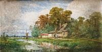 maison en bord de rivière by michel bouquet